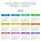2014 Polish calendar Stock Photo
