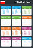 Polish Calendar for 2018. Scheduler, agenda or diary template. Week starts on Monday Royalty Free Stock Images