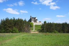 Polish castle in Bobolice Royalty Free Stock Images
