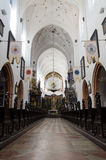 Polish cathedral beautiful interior Royalty Free Stock Photography