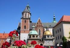Polish cathedral of Krakow Royalty Free Stock Image