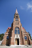 Polish Catholic Church. Front view Royalty Free Stock Photo