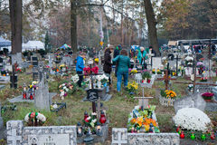 Polish cemeteries Stock Images