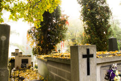 Polish cemetery Royalty Free Stock Photos