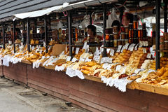 Polish cheese oscypek on a market in Zakopane Stock Photos