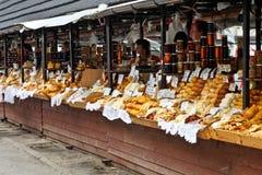 Polish cheese oscypek on a market in Zakopane Stock Photos