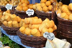Polish cheese Stock Images