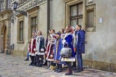Polish Christmas Carolers Royalty Free Stock Photography