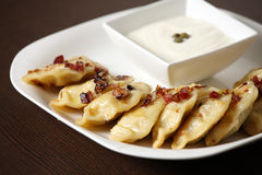 Polish Christmas dumplings Royalty Free Stock Photography