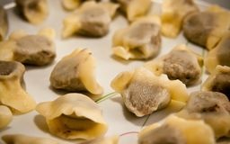 Polish Christmas dumplings (uszka) Stock Photo
