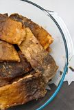 Polish Christmas food of fried carp fish Royalty Free Stock Photography