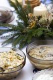 Polish Christmas table Stock Photography