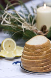 Polish Christmas table Stock Photos