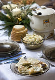 Polish Christmas table Royalty Free Stock Images