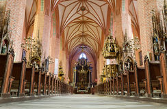 Polish church interior Stock Photos