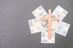 Polish church money Royalty Free Stock Images