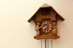 Polish Clock. Close up of a Polish wood carved cuckoo clock royalty free stock photography
