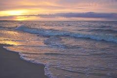 Polish coast sunset Stock Images