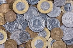 Polish coins Royalty Free Stock Photography