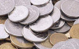 Polish coins Royalty Free Stock Photo