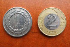 Polish coins Stock Photography