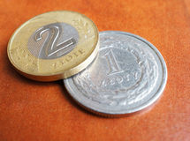 Polish coins Royalty Free Stock Photos