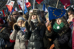 Polish Committee for the Defence of Democracy demonstration in W Royalty Free Stock Images