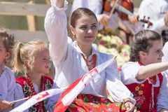 The Polish Constitution Day Parade 2018 royalty free stock image