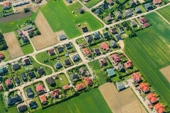 Aerial of rural landscape near Gdansk Royalty Free Stock Image