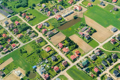 Aerial view of rural landscape Stock Photography