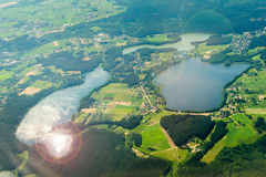 Beautiful aerial landscape Stock Photos