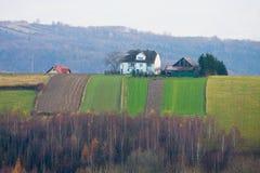 Polish countryside landscape Royalty Free Stock Images