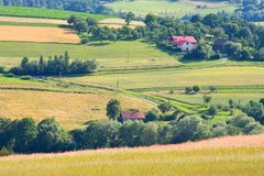 Polish countryside landscape Royalty Free Stock Photos