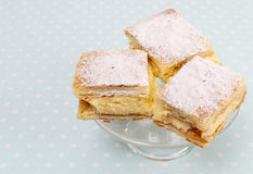 A Polish cream pie Royalty Free Stock Photos