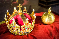 Polish crown jewels. Historic Polish crown jewels. Golden apple royalty free stock image