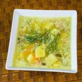 Polish cucumber soup Stock Photography