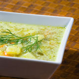Polish cucumber soup Royalty Free Stock Image