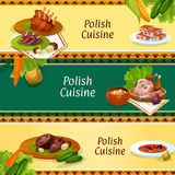 Polish cuisine banners for restaurant menu design Royalty Free Stock Images