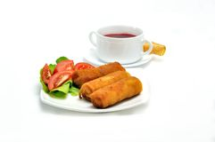 Polish Cuisine. Croquette and soup. Stock Images