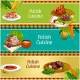 Polish cuisine meat and vegetable dish banner set Royalty Free Stock Image