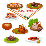Polish cuisine savory dishes icon for menu design Royalty Free Stock Photography