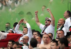 Polish Cup Final: Legia-Lech Stock Image