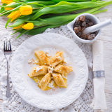 Polish Curd  dumplings Stock Photography