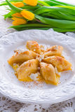 Polish Curd  dumplings Stock Photos