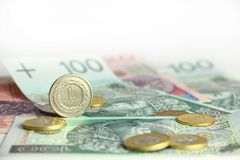 Polish currency Stock Photography