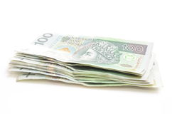 Polish currency banknotes Stock Photos