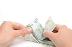 Polish currency banknotes Stock Images