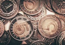 Polish Currency Coins Stock Image