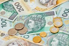 Polish currency money zloty Stock Photos