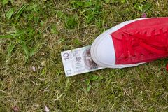 Polish currency outdoor Royalty Free Stock Photography